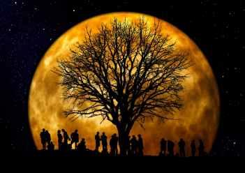 Autumnal Moon - Photo by Gerd Altmann
